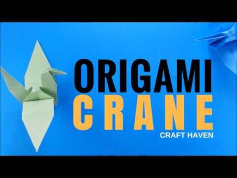 Origami Crane Easy Step by Step Tutorial - How to Make Paper Bird (Tsuru) DIY Tutorial for Beginners