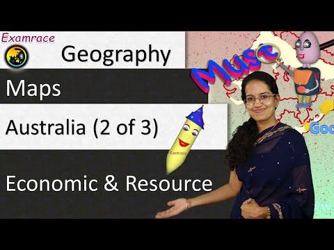 Australia (2 of 3) Economic and Resource: World Geography through Maps & Mnemonics