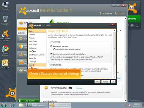 How to change the voices in avast! Antivirus