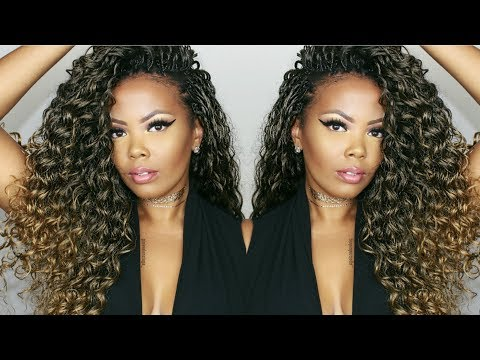 😍 MY FABULOUS CURLY CROCHET BRAIDS START TO FINISH + HOW TO MOISTURIZE DRY NATURAL HAIR | TASTEPINK
