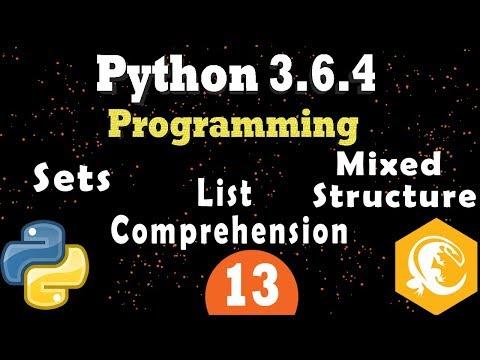 Python Data Structures: Python Sets & List Comprehension (Programming Tutorial) Part 2