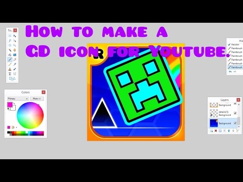 Geometry dash Tutorial:how to make a icon for you tube