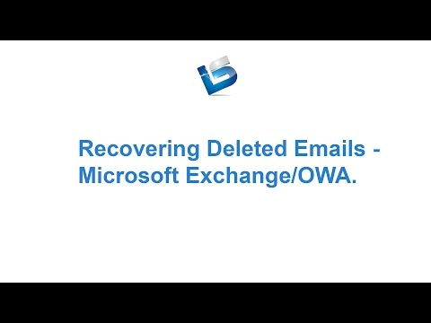 Recover Deleted Emails in Outlook and Outlook Web Access