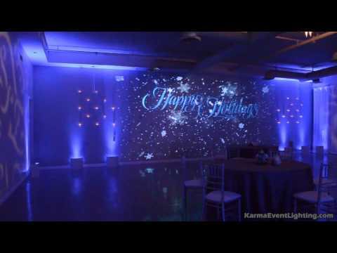 Snowfall Winter Wonderland Holiday Party Lighting Karma Event Lighting