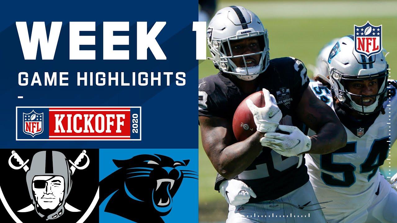 Raiders vs. Panthers Week 1 Highlights   NFL 2020