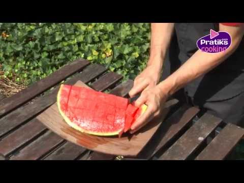 How to cut watermelon into cubes DiY