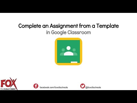 Create an Assignment in Google Classroom from a Template   STUDENT VIEW