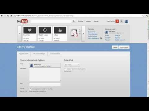 How to change Youtube channel name (2012), Remove Real Name