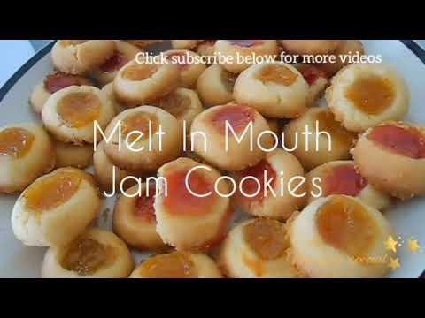 Melt In Mouth Jam Cookies |Vegan|
