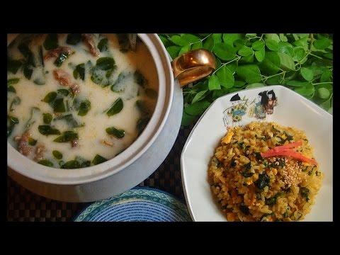 Malunggay Milk Soup at Malunggay Sinangag