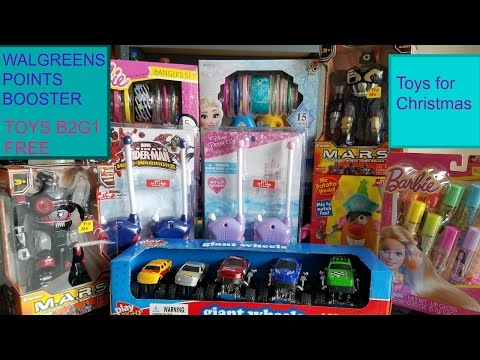 Buy 2 get 1 free toys at Walgreens plus booster points
