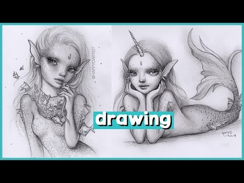 DRAWING TIMELAPSE 🎨 Two little mermaids