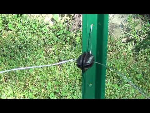 3. Installing Insulators on posts for an Electric Fence