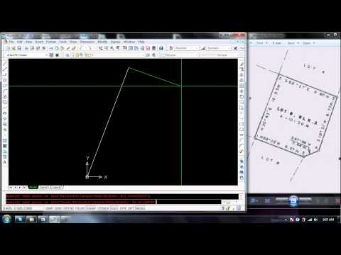how to plot LOt bearing in Autocad