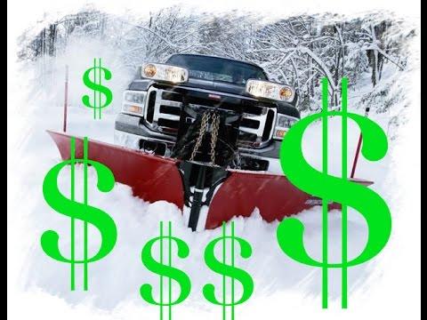 Make EASY MONEY snow plowing!