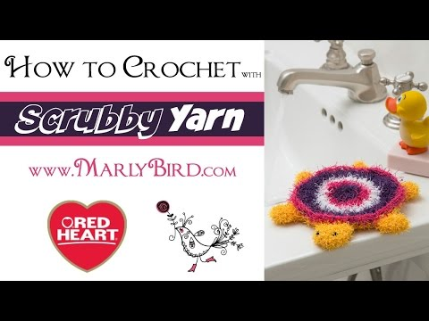 How to Crochet with Scrubby Yarn