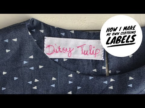 How to sew a label