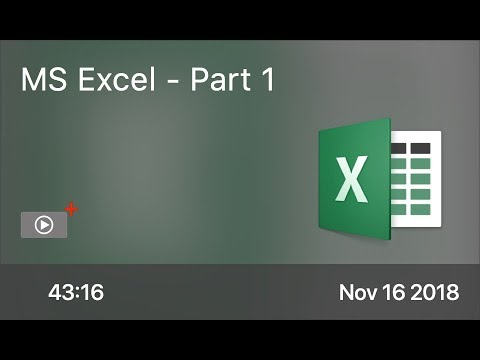 SCOM0787 - MS Excel - Part 1 - Preview