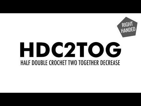 The Half Double Crochet Two Together Decrease (hdc2tog) :: Crochet Decrease :: Right Handed