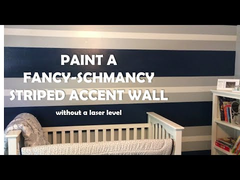 How to Paint a Striped Accent Wall - Do It