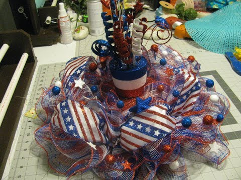 How To Make Carmen's Patriotic Tabletop Centerpiece