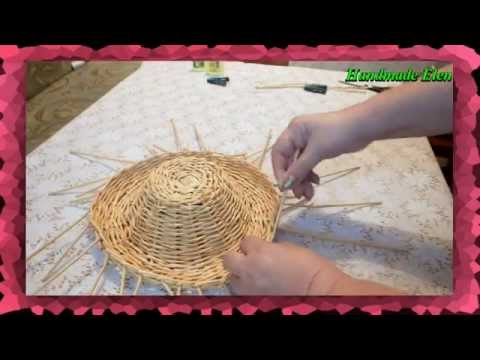 DIY weaving newspapers tutorial how to make a hat
