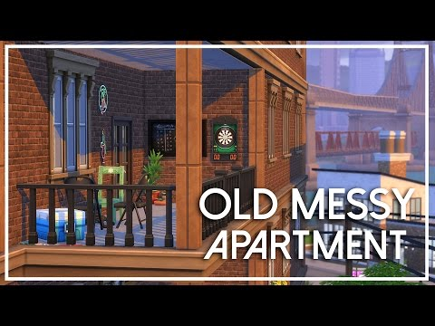 The Sims 4 Apartment Build - Old Messy Apartment