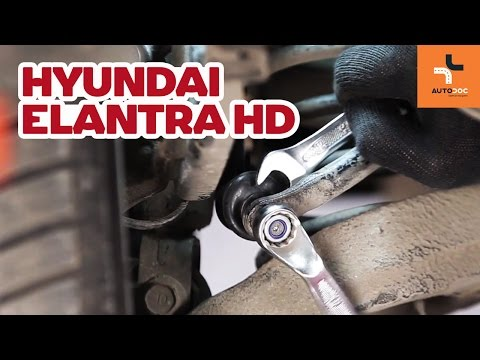 How to replace rear anti roll bar link on HYUNDAI ELANTRA HD TUTORIAL | AUTODOC