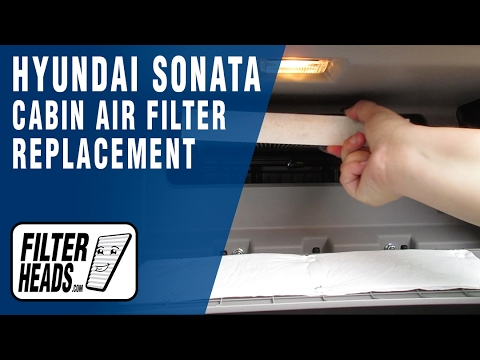 How to Replace Cabin Air Filter Hyundai Sonata 2015-2016