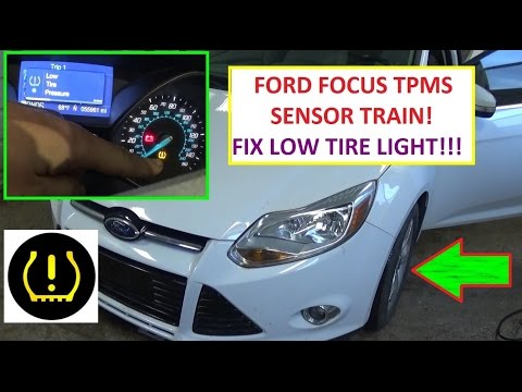 How to Train TPMS Tire Pressure Sensors on Ford Focus MK3  Low Tire Pressure Light FIX RESET