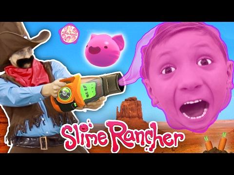Gooey, Squishie Slime Monsters vs. FGTEEV Sheriff (Slime Rancher Farm Gameplay / Skit)