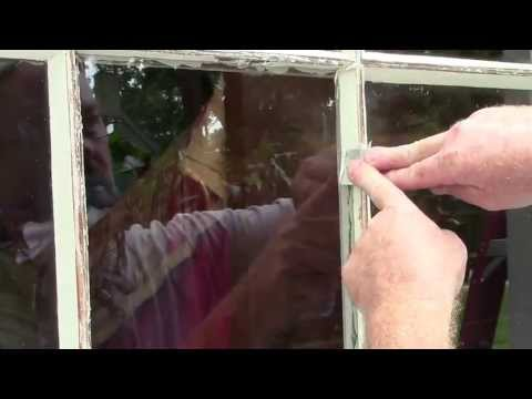 Replacing a Glass Window Pane and Glazing