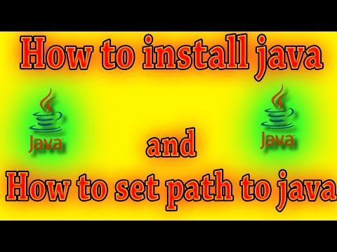 How to install java JDk & JRE and set path to java
