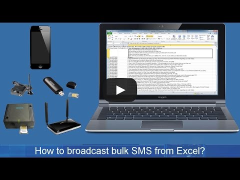 How to send SMS from PC Excel. Send SMS from computer