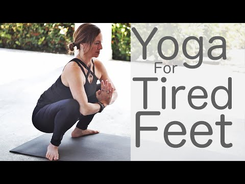 15 Minute Yoga for Tired Feet and Sore Legs With Fightmaster Yoga
