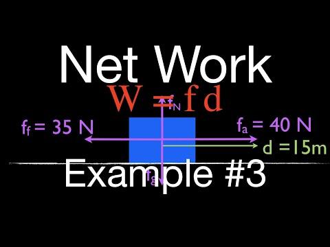 Physics, Net Work, Work Energy Principle, Applied Force Horizontal
