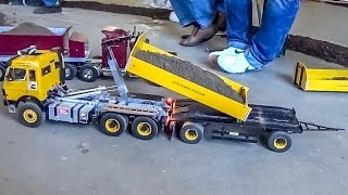 RC Container Truck and Trailer ACTION!
