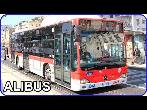 Alibus arriving at Stazione Napoli Centrale - Passenger View