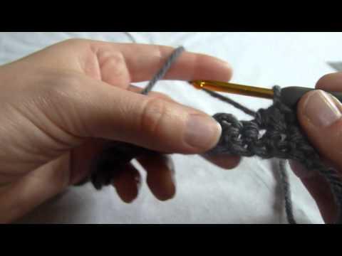 Stitch Scene: Half double decrease (half double crochet 2 stitches together) (hdc2tog)