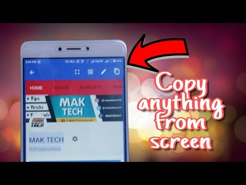 How to copy any text from smartphone screen || Copy from any app || in Hindi