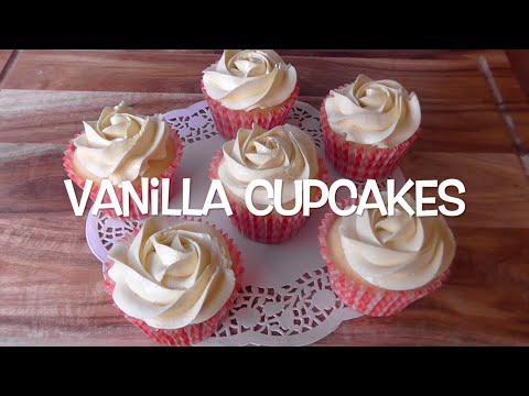 How to Make vanilla Cupcakes / Resep Cupcake Vanila