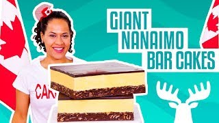 How To Make Giant Nanaimo Bars out of CAKE for Canada 150   Yolanda Gampp   How To Cake It