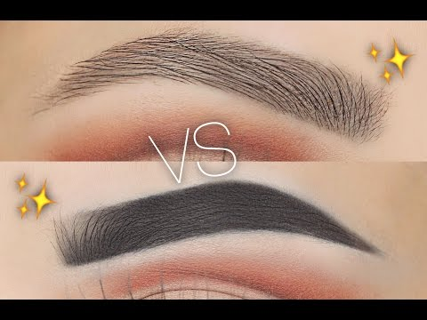 Natural Vs Fleeky Eyebrow Routine