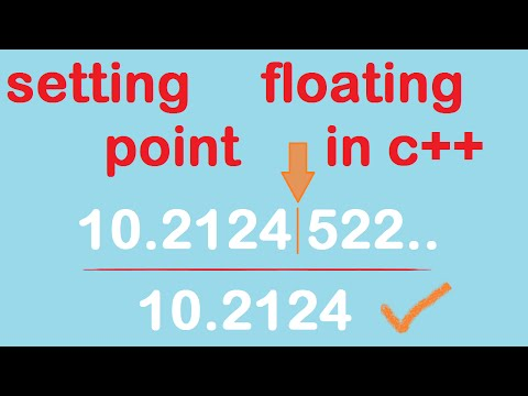 C++ floating points manipulation | How to set decimal point is c++ | float and double
