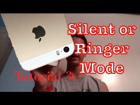 Setting the Silent and Ringer Mode on your iPhone 5s | Tutorial 3