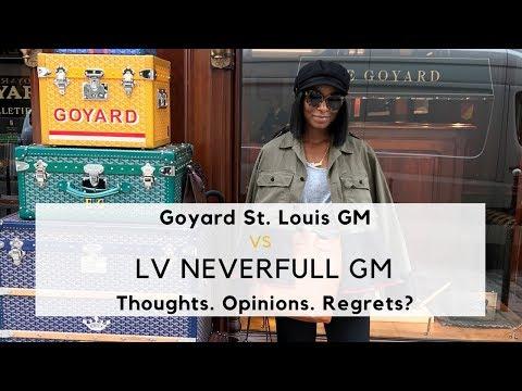 fe3e22735dbc LV Neverfull GM VS. GOYARD St. Louis GM