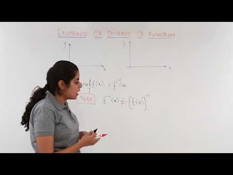 Existence of Inverse of a Functions