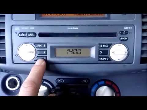 How To Enter Nissan Radio Code