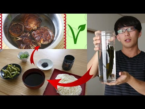 How to Make Japanese Dashi and Tsuyu VEGAN