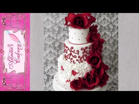 Red Red Rose Wedding Cake